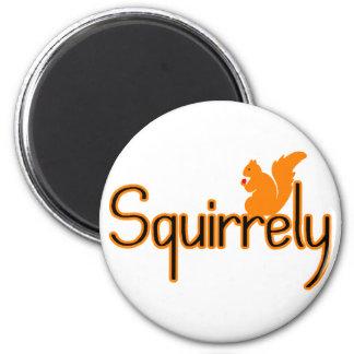 Squirrely 2 Inch Round Magnet