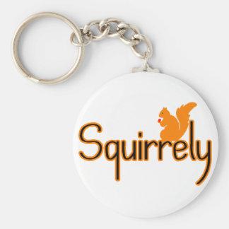 Squirrely Basic Round Button Keychain
