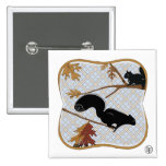 Squirrely Business 2 Inch Square Button