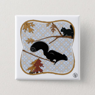 Squirrely Business Pinback Button