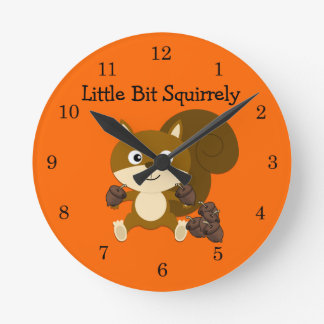 Squirrely Round Wall Clocks