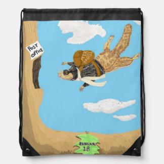 Squirrely entrega el correo mochila