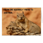 Squirrely Friend Greeting Card