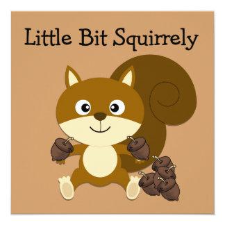 Squirrely Invitación 13,3 Cm X 13,3cm