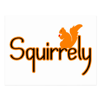 Squirrely Postcard