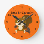 Squirrely Relojes De Pared