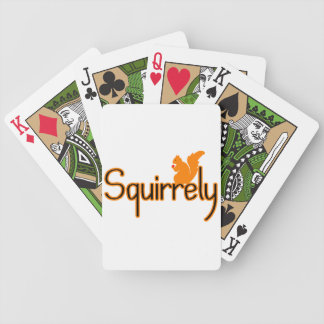 Squirrely Squirrel Bicycle Playing Cards