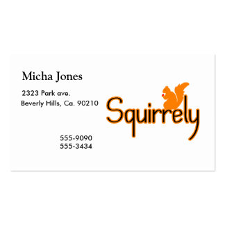 Squirrely Squirrel Business Card Template