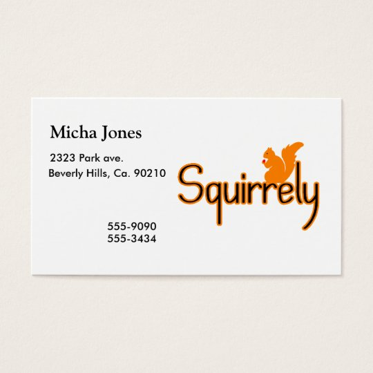 Squirrely Squirrel Business Card