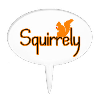 Squirrely Squirrel Cake Topper