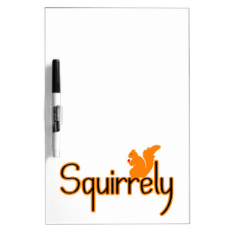 Squirrely Squirrel Dry Erase Board