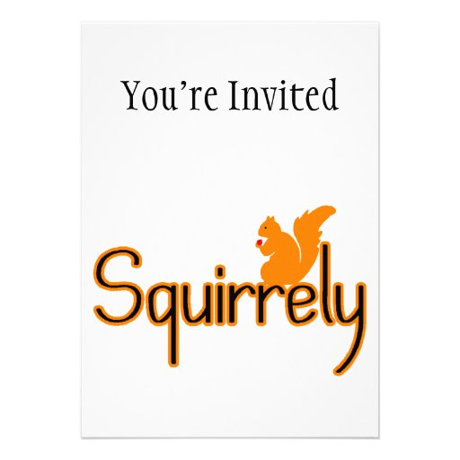 Squirrely Squirrel Personalized Announcements