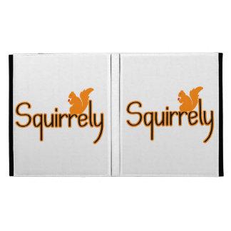 Squirrely Squirrel iPad Folio Cases