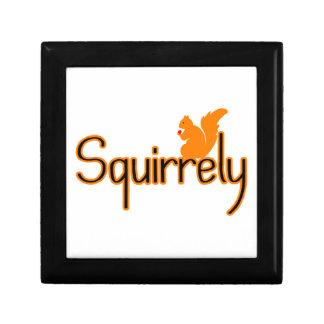 Squirrely Squirrel Keepsake Box