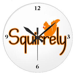 Squirrely Squirrel Large Clock
