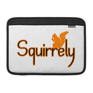 Squirrely Squirrel MacBook Sleeve