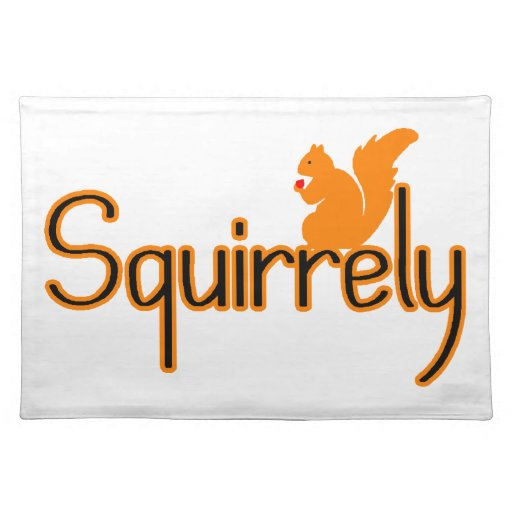Squirrely Squirrel Placemat