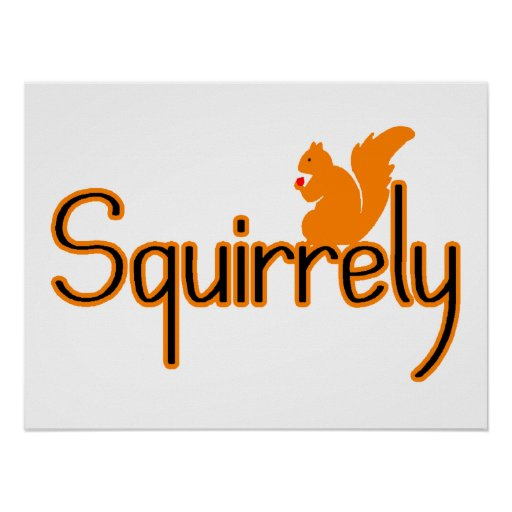 Squirrely Squirrel Print