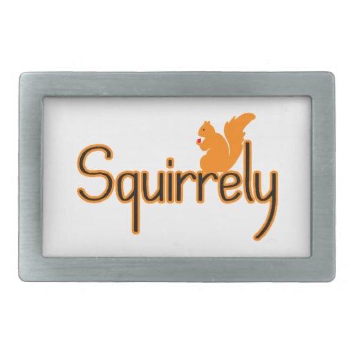 Squirrely Squirrel Rectangular Belt Buckle