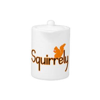 Squirrely Squirrel Teapot