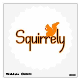 Squirrely Squirrel Wall Sticker