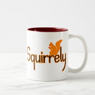 Squirrely Two-Tone Coffee Mug