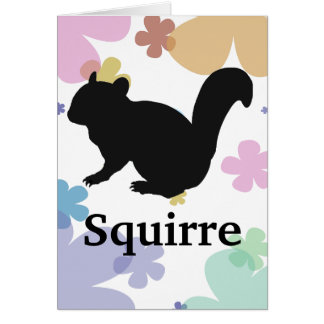 Squirre's silhouette (Black) type2 Card