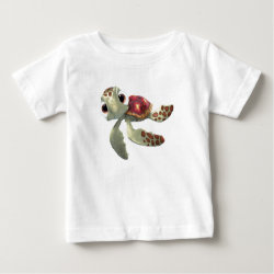 Baby Fine Jersey T-Shirt with Cute baby sea turtle Squirt of Finding Nemo design