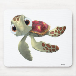 Mousepad with Cute baby sea turtle Squirt of Finding Nemo design