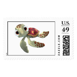 Large Stamp 2.5' x 1.5' with Cute baby sea turtle Squirt of Finding Nemo design