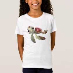 Cute baby sea turtle Squirt of Finding Nemo Girls' Fine Jersey T-Shirt