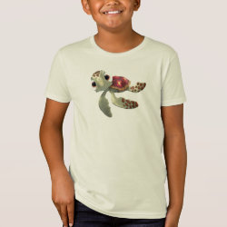 Kids' American Apparel Organic T-Shirt with Cute baby sea turtle Squirt of Finding Nemo design