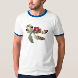 Cute baby sea turtle Squirt of Finding Nemo Men's Basic Ringer T-Shirt