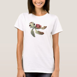 Women's Basic T-Shirt with Cute baby sea turtle Squirt of Finding Nemo design