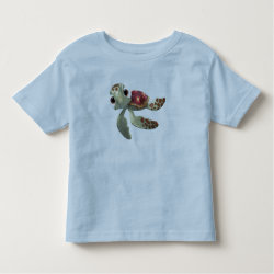 Toddler Fine Jersey T-Shirt with Cute baby sea turtle Squirt of Finding Nemo design