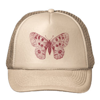 squirt of a butterfly trucker hat