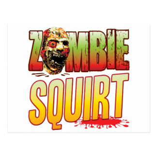 Squirt Zombie Head Postcard