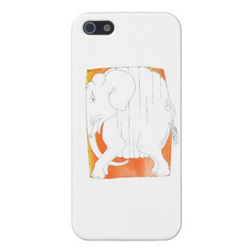 Squished Elephant iPod Case Case For iPhone 5