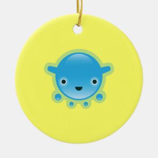 Squishies Blue Bubbo Round Ornament