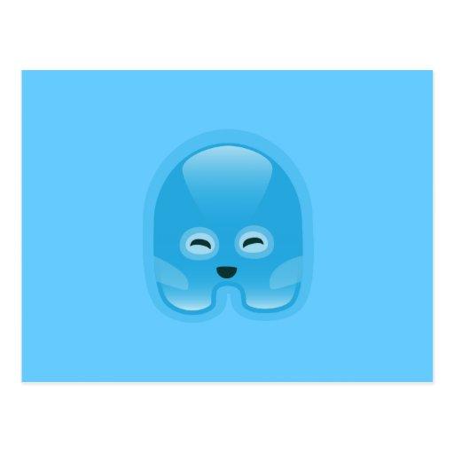 Squishies Blue Wassat Postcard