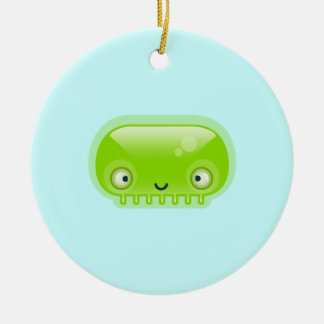 Squishies Green Bloop Round Ornament