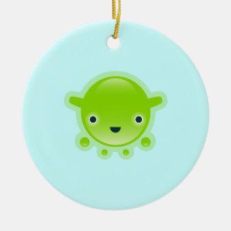 Squishies Green Bubbo Round Ornament