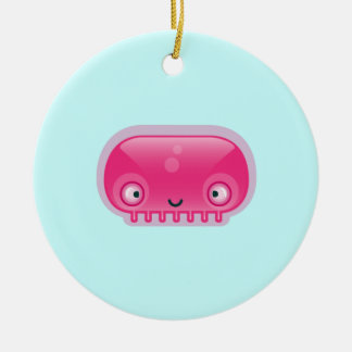 Squishies Pink Bloop Round Ornament