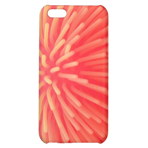 Squishy Ball Toy Abstract Red Orange Glow Case For iPhone 5C Zazzle