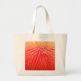 Squishy Ball Toy Abstract Red Orange Glow Large Tote Bag