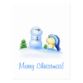 Squishy Littlekins in the Snow Postcard