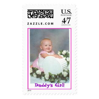 Squishy on Pillar, Daddy's Girl! Postage Stamp