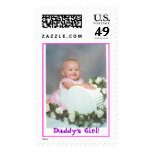 Squishy on Pillar, Daddy's Girl! Postage Stamps