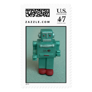 Squishy Robot Stands Alone Postage
