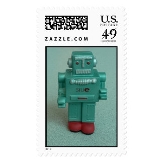 Squishy Robot Stands Alone Postage Stamp